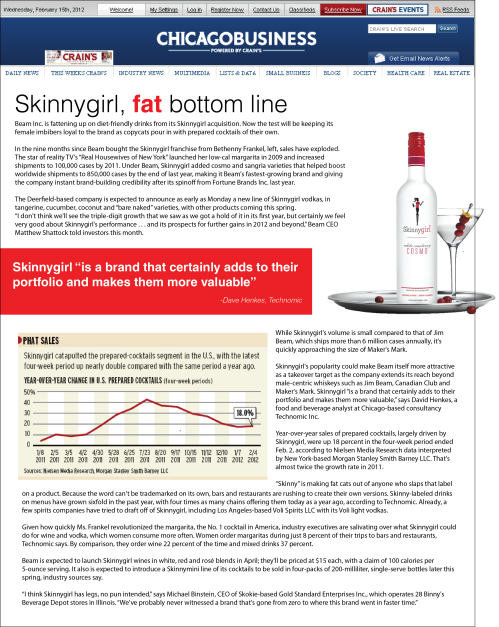 Skinnygirl, Fat Bottom Line